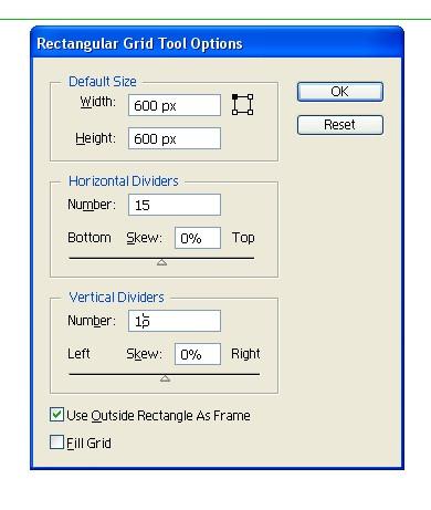 Grid tool values
