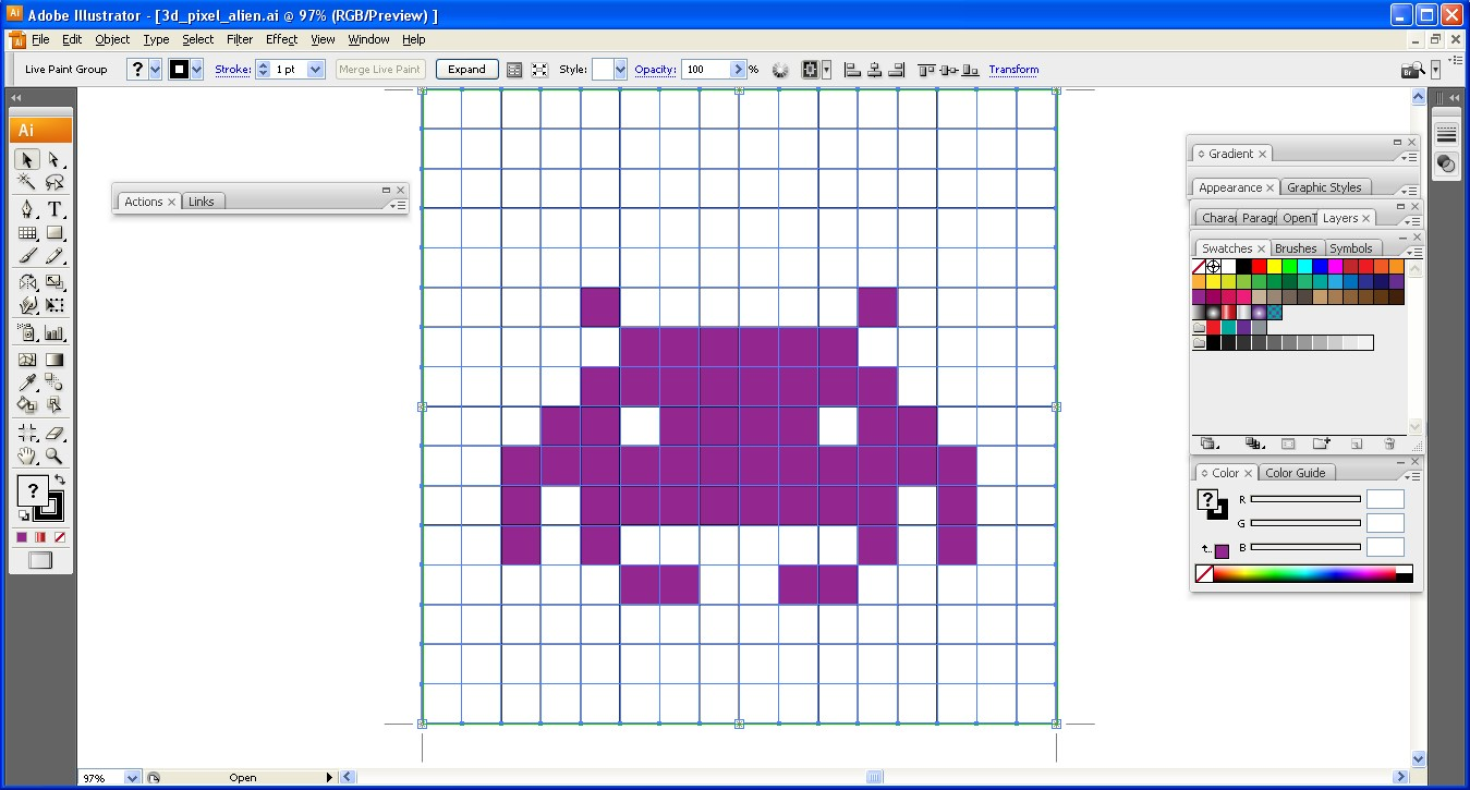 How to Create a Cute 3D Pixel Monster in Illustrator - DesignOptimal