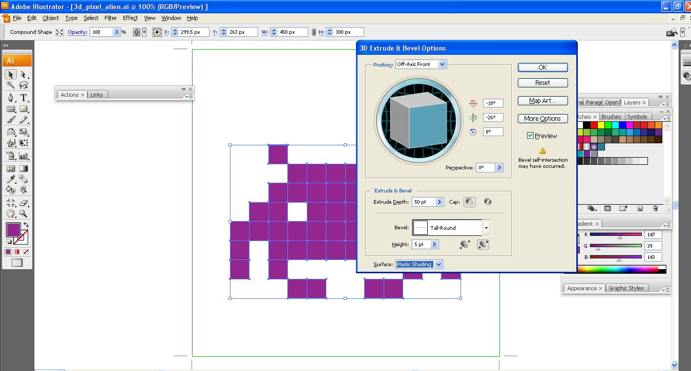 how to create pixel art in illustrator