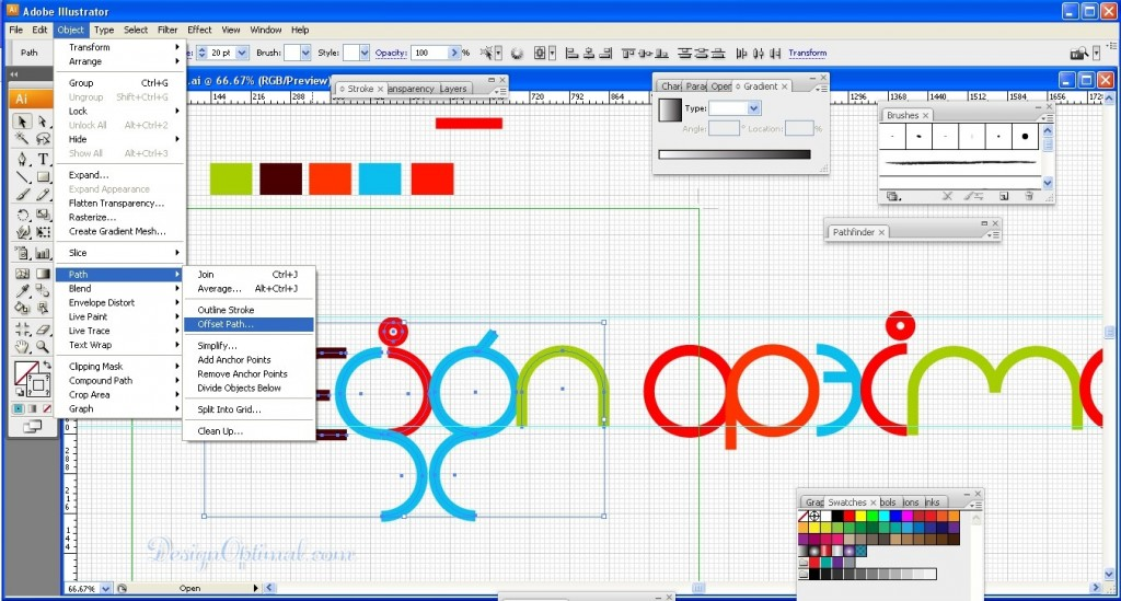 6.Create a Cool and Colorful Logo in Adobe Illustrator Steps - 8.1