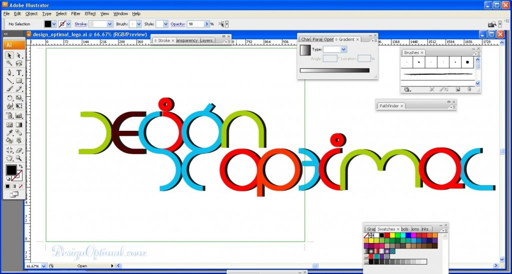 6.Create a Cool and Colorful Logo in Adobe Illustrator Steps - 9.1
