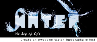 Create an Awesome Water Typography effect Steps -featured