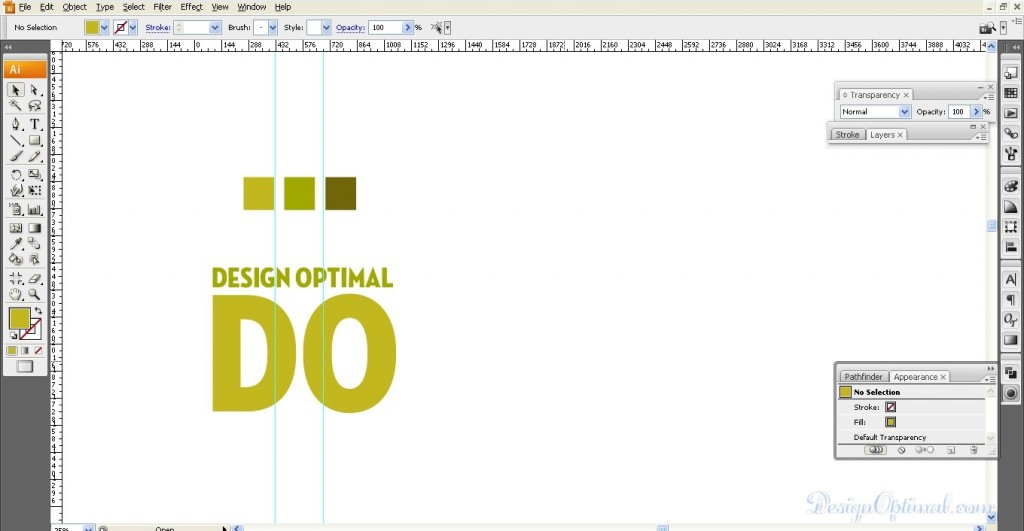 create a Cool 3D TEXT using Adobe Illustrator and Photoshop - Steps 1.2