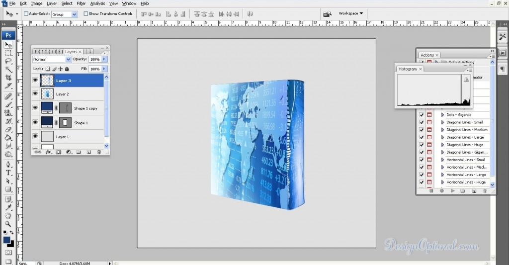 Create a Cool 3D SoftwearBox using Adobe Photoshop Steps - 6.4