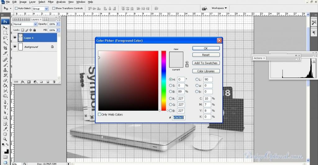 Create a Simple Webpage using Adobe Photoshop - Steps - 3.1