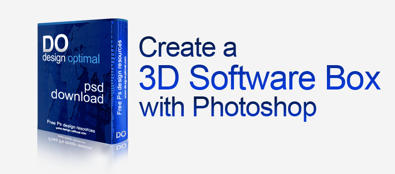How to Create a Cool 3D Software Box using Adobe Photoshop