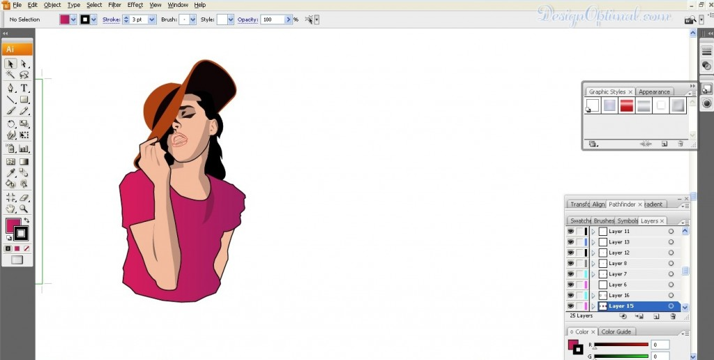 Adding shadowed and highlights to face (click to zoom image)