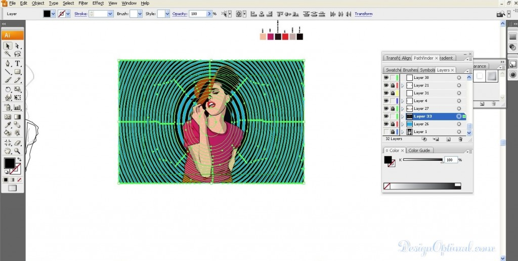Adding the hypnotism background image 01 (click to zoom image)