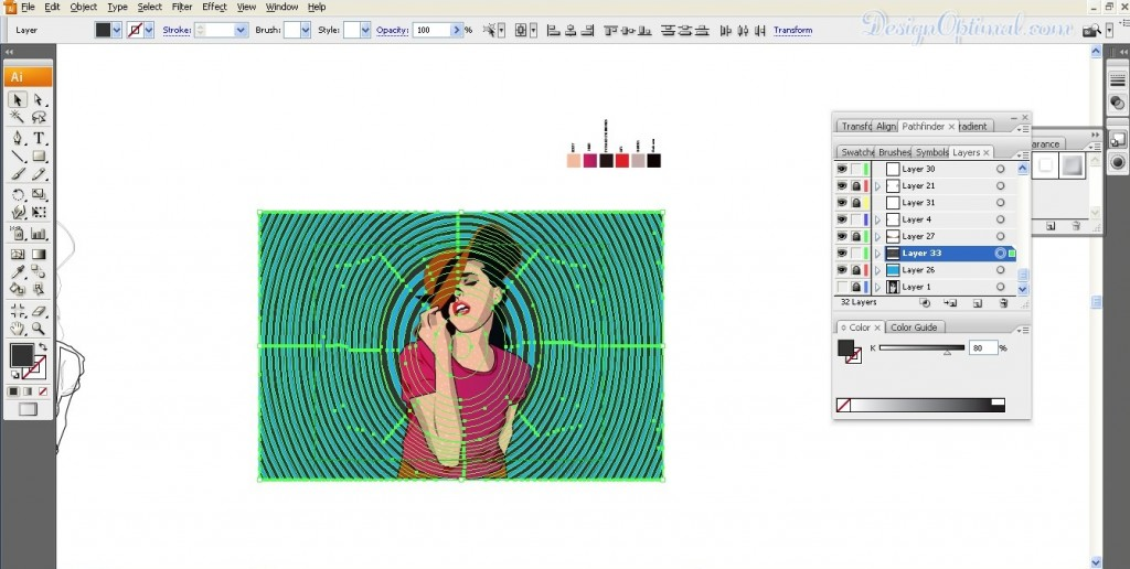 Adding the hypnotism background image 02 (click to zoom image)