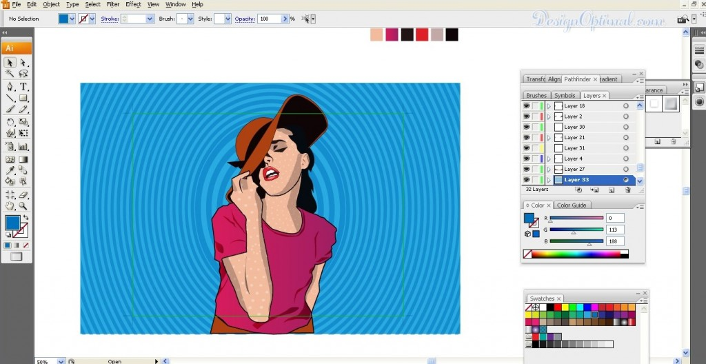 Create a Cool Pop Art poster using Adobe Illustrator steps - 9.1