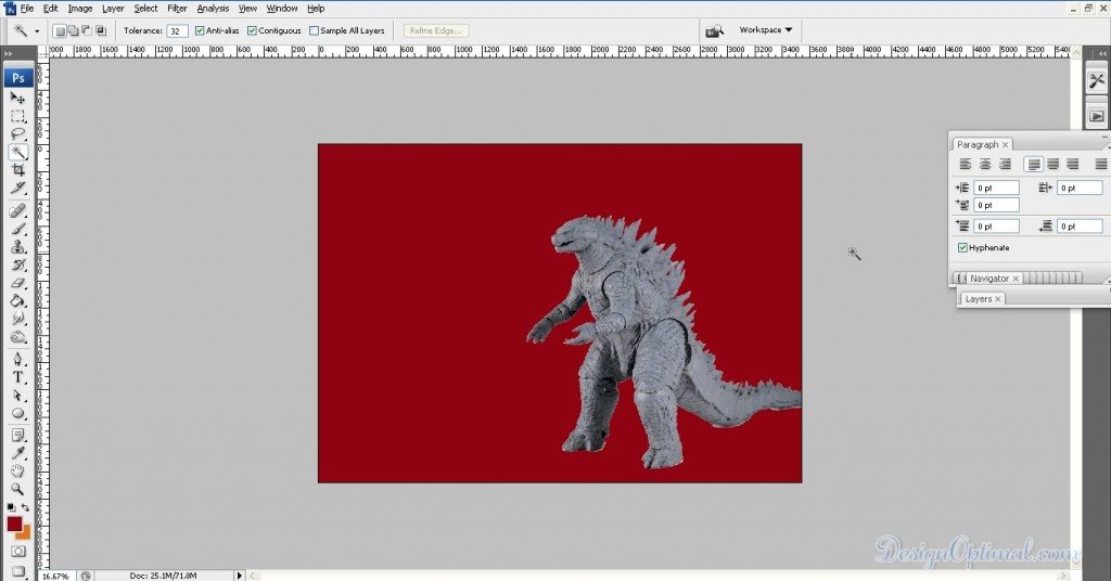02-placing Godzilla (click to zoom image)