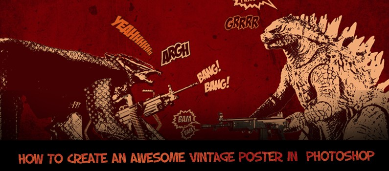 How to Create a Cool Vintage poster using Adobe Photoshop Steps - featured