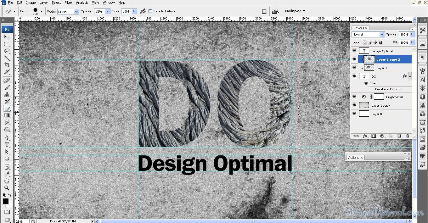 How to Design Lava Text Effect in Photoshop - DesignOptimal