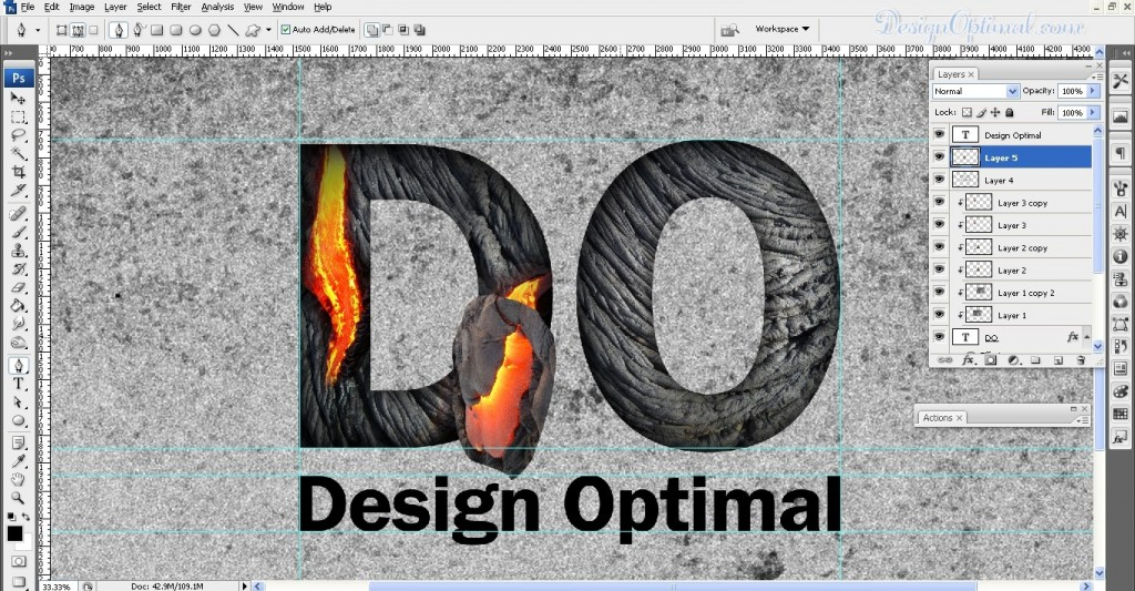 SCREEN_08 – adding the lava to the letter D flowing out of the letter (click to zoom image)