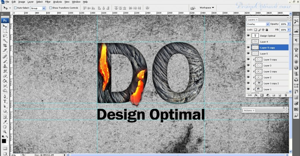 SCREEN_09 – adding the lava to the letter D flowing out of the letter (click to zoom image)