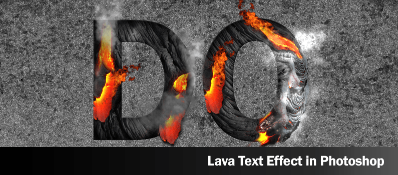 How to Design Lava Text Effect in Photoshop