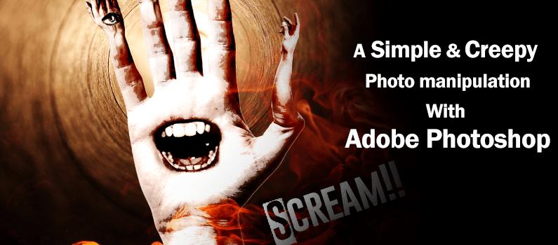 Scream – a Simple and Creepy Photo Manipulation Using Adobe Photoshop