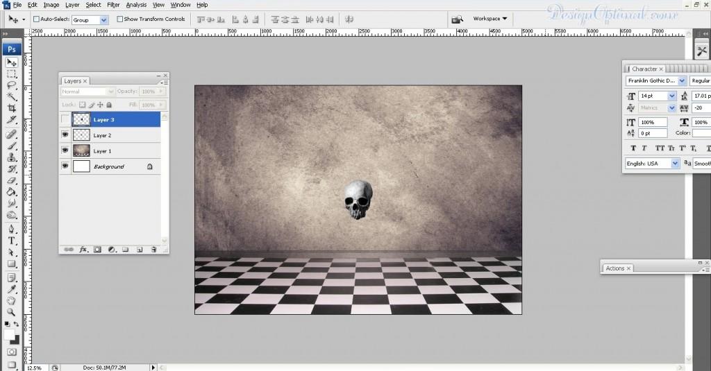 Adding skull (click to zoom image)