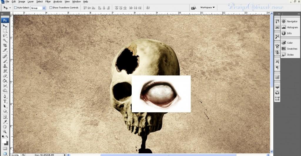 Adding eyeball (click to zoom image)