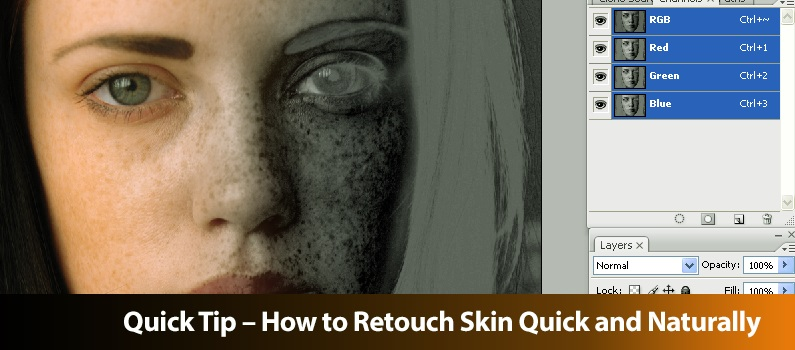 Quick Tip – How to Retouch Skin Quick and Naturally