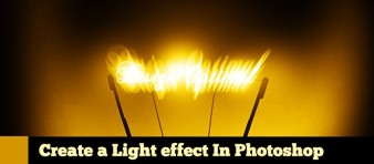 Light Effect in Photoshop steps -  featured