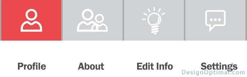 Adding the bottom status bar icons