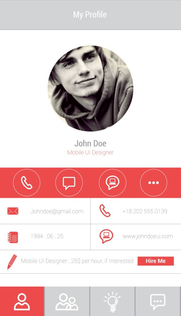 Finalized profile Page