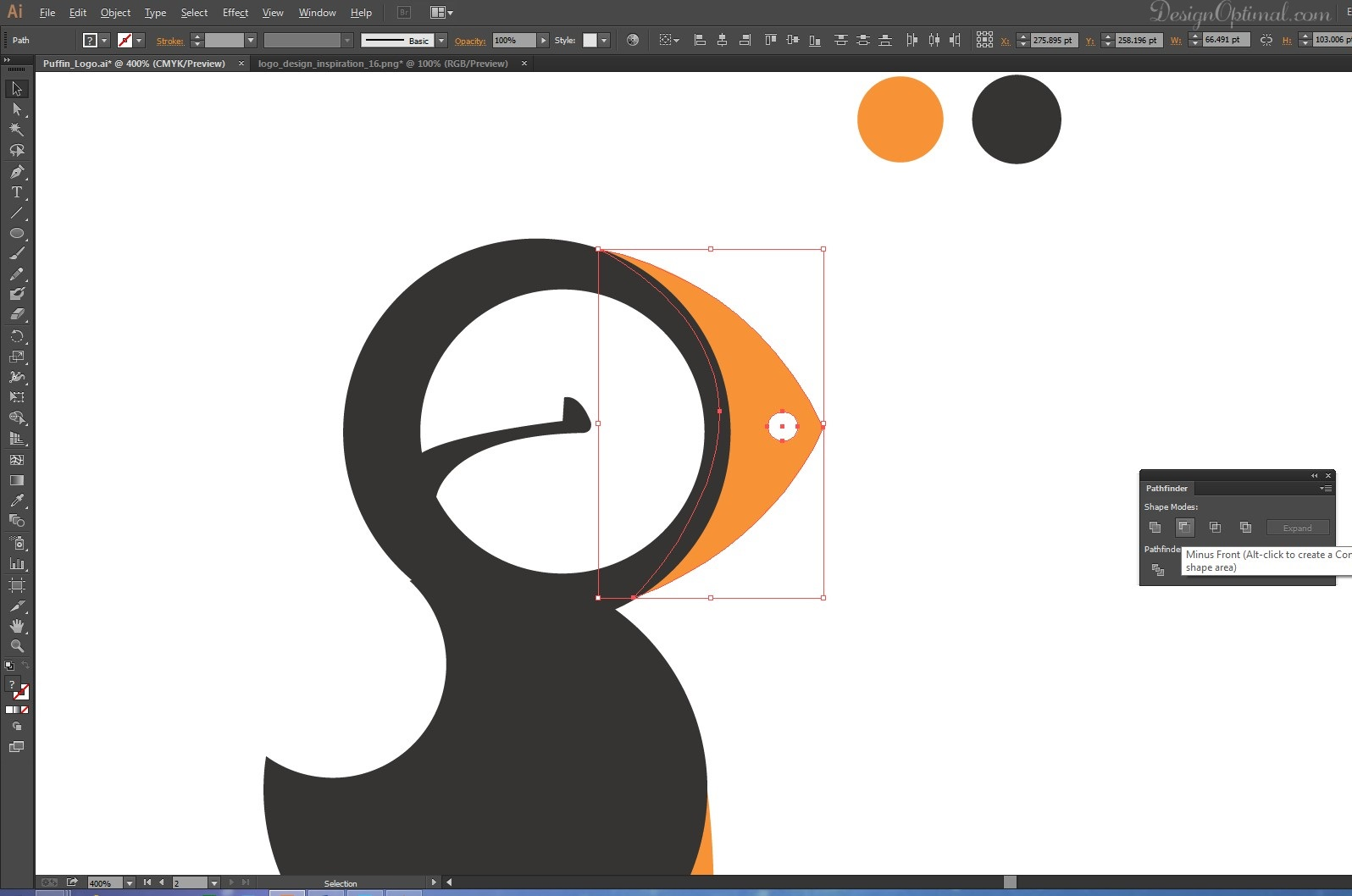 Simple Character Design Illustrator : How to create a cool and simple puffin logo using adobe illustrator