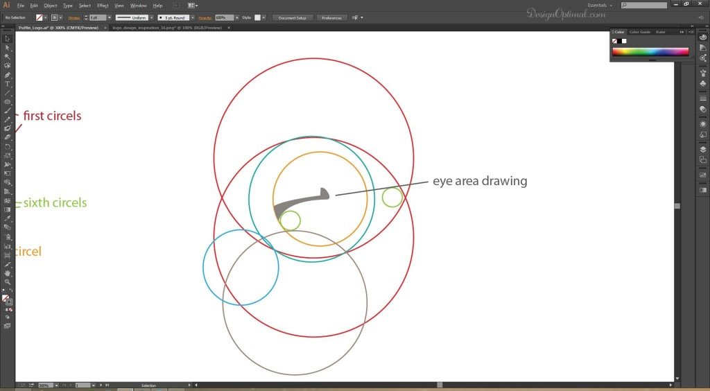 adding_the_eye area