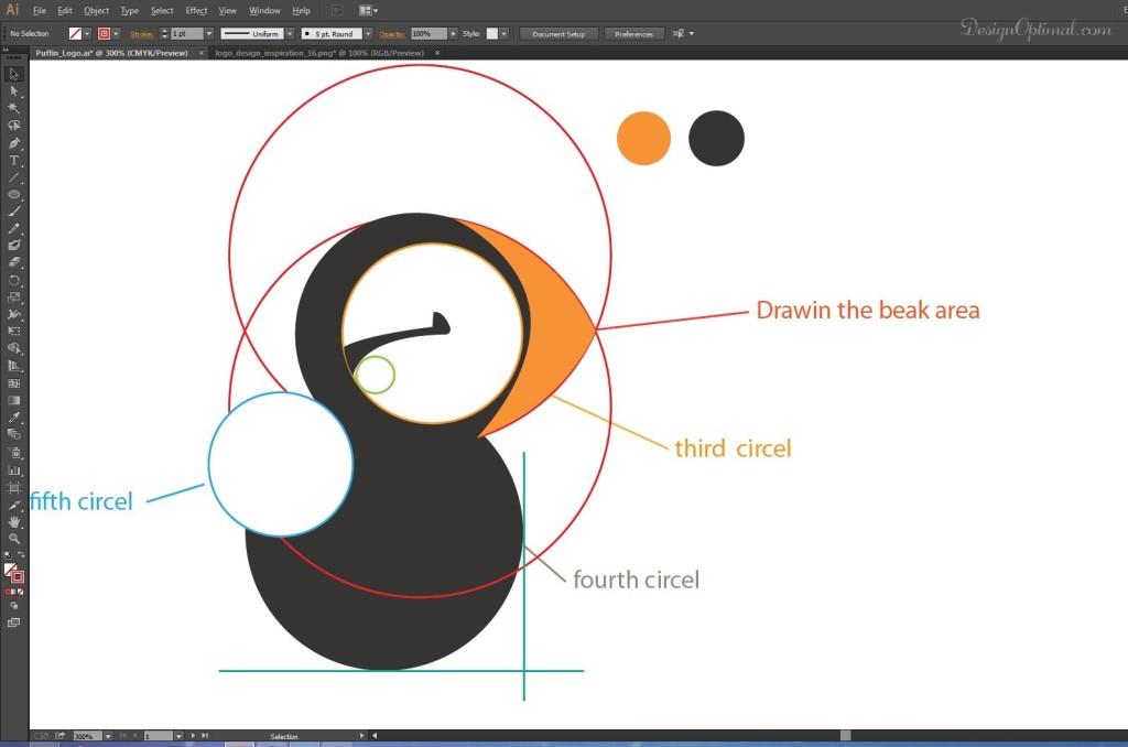 drawing the beak area 1