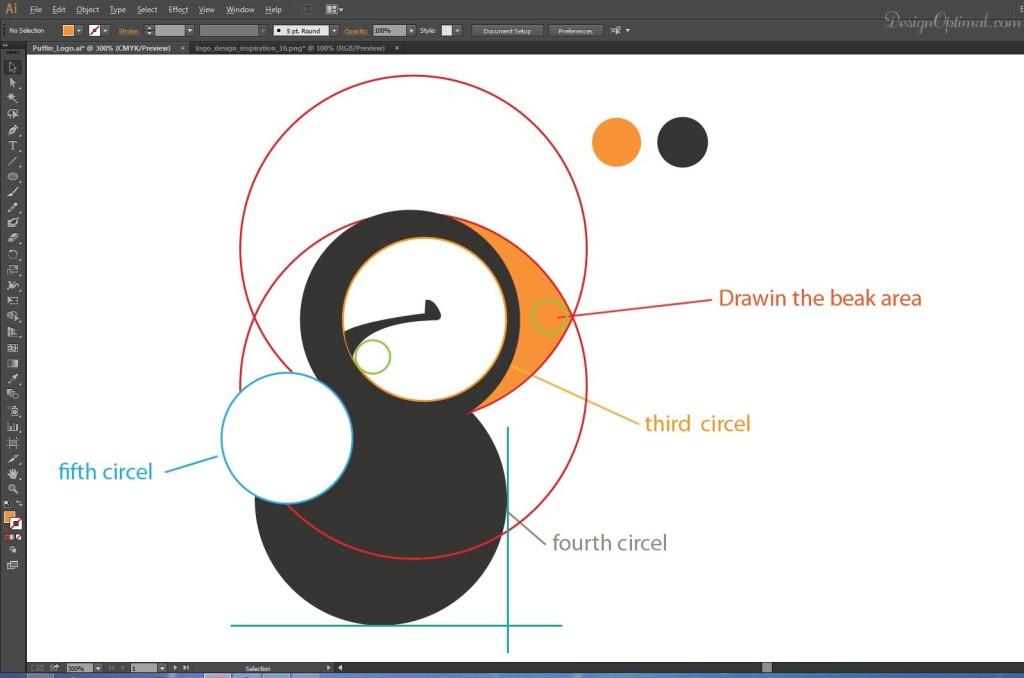 drawing the beak area 2