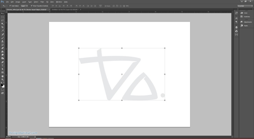 Design a Chrome Effect in Photoshop steps - 3.1