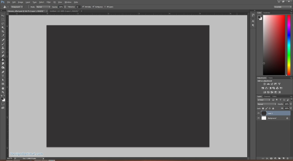 Design a Chrome Effect in Photoshop steps - 4.2