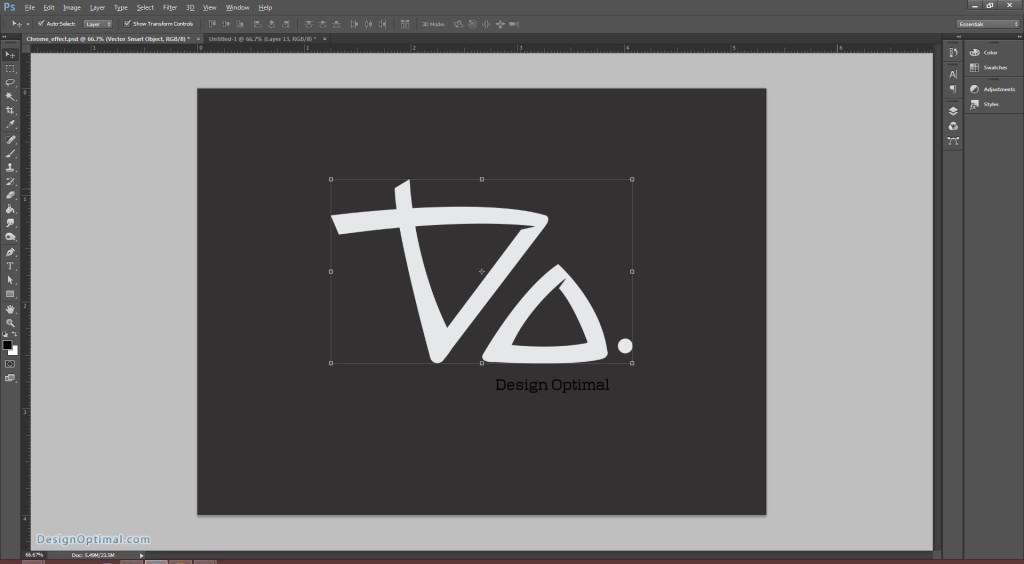 4.3 placing the Design Optimal logo