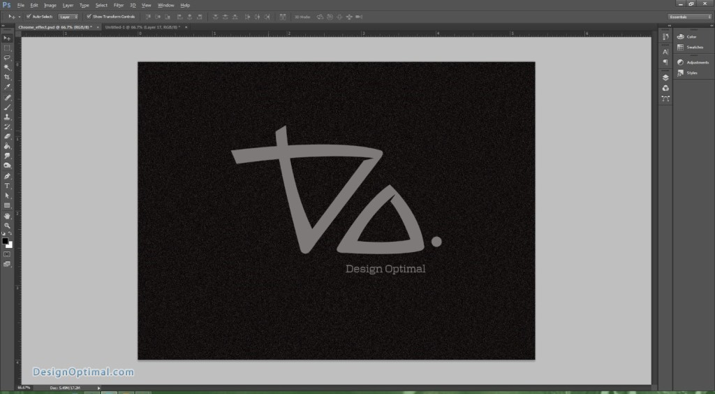 Design a Chrome Effect in Photoshop steps - 6.1