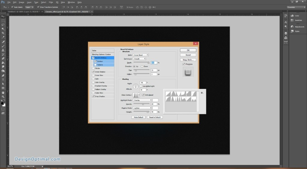 Design a Chrome Effect in Photoshop steps - 8.1