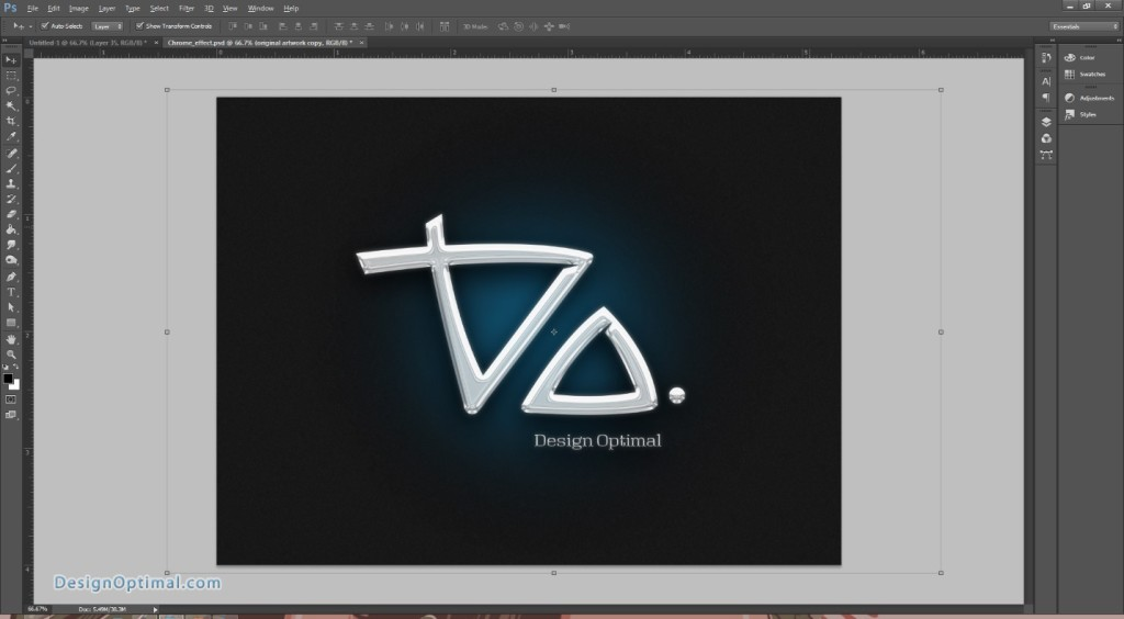 Design a Chrome Effect in Photoshop steps - 9.2
