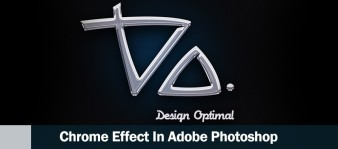 Design a Chrome Effect in Photoshop steps -  header