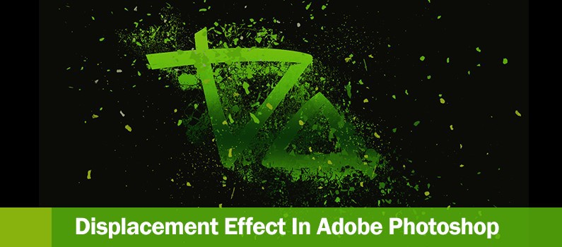 How to Create a Displacement Effect using Photoshop -  header