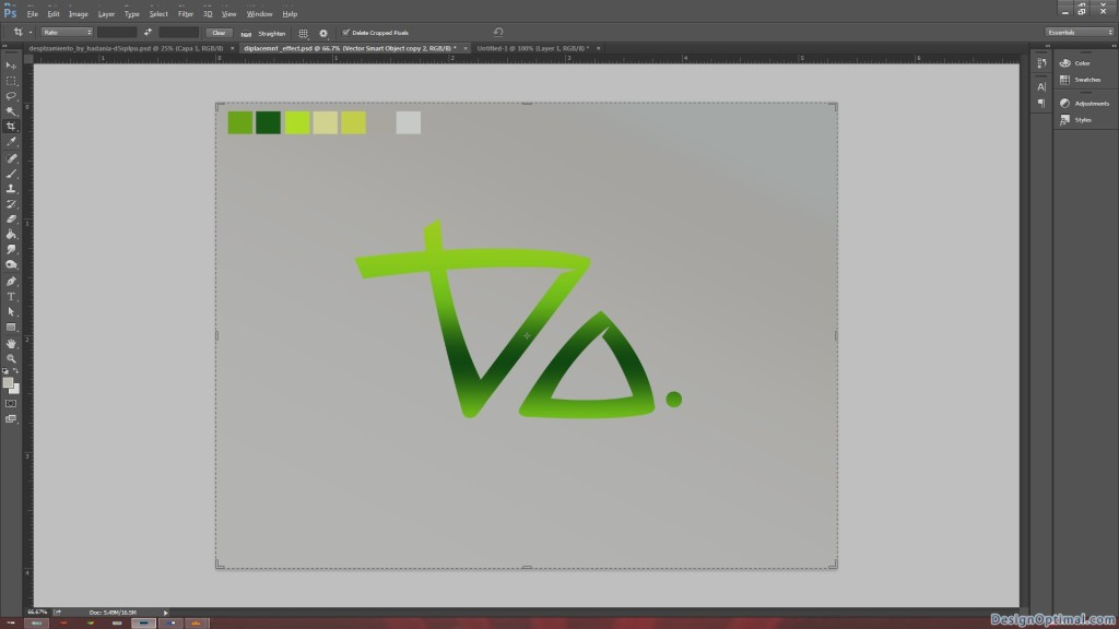 4.4 Adding the gradient to the DO logo