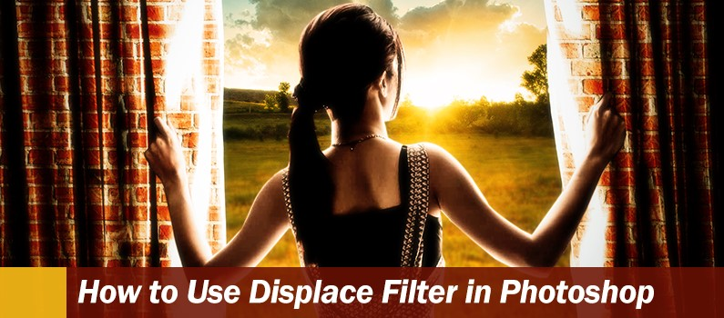 How to Use Displace Filter in Photoshop -  header