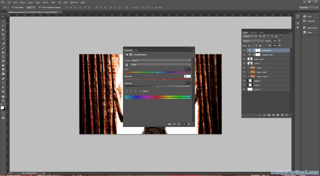 12.1 Adding the Hue Saturation Layer