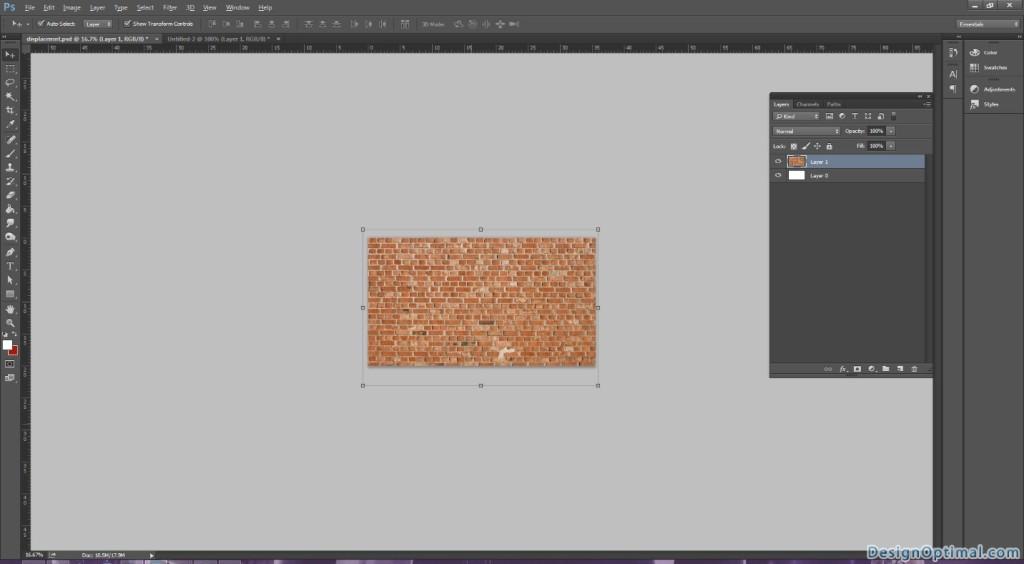 2.1 Placing the brick layer