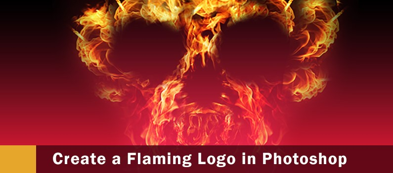 How to Design a Flaming logo steps -  featured