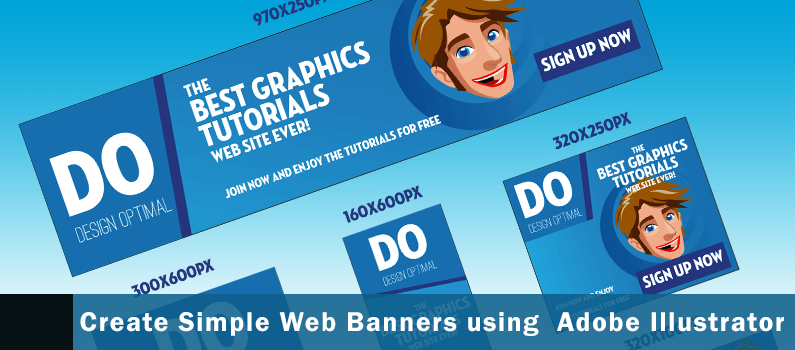 How to Create Simple Web Banners featured header