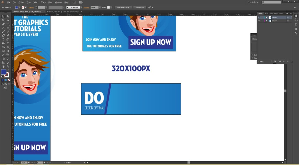 How to Create Simple Web Banners steps - 6.3