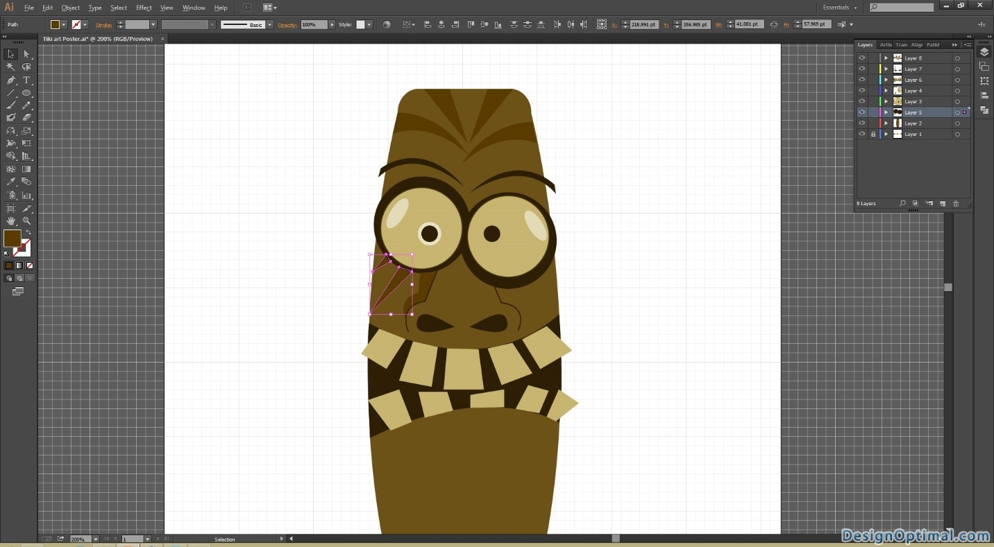 how to create a cool and funny tiki art using adobe illustrator - page 3 of 4
