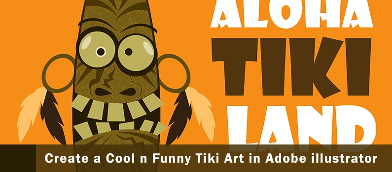 How to Create a Cool and Funny Tiki Art in AI - steps featured